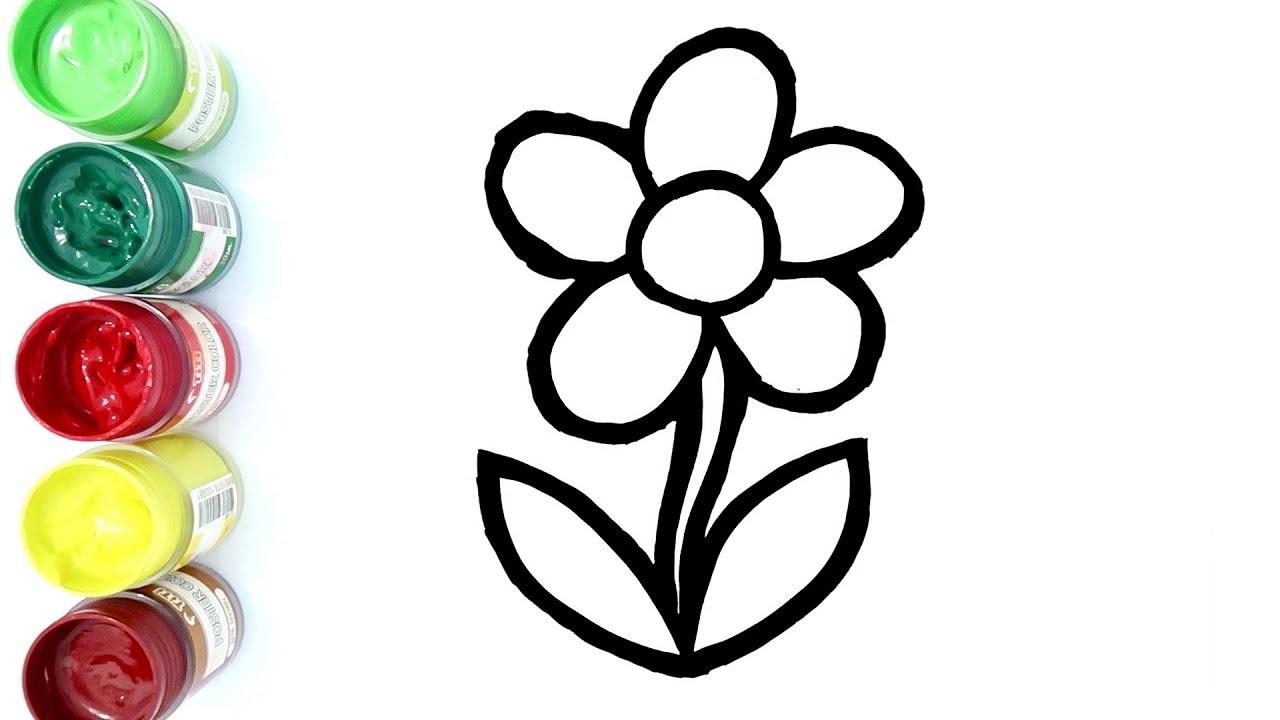 Cara Menggambar Dan Mewarnai Bunga Cantik
