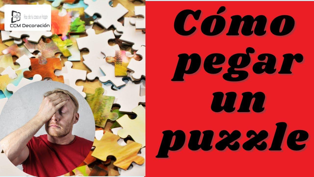 Cómo pegar un puzzle  de manera fácil