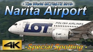 【4K】2016 Special !! 2Hour Spotting in NARITA Airport HOTEL MARROAD Vol3 the Amazing Airport Spotting