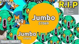 Agar.io 168,597 Score FAIL - EPIC SOLO AGARIO GAMEPLAY