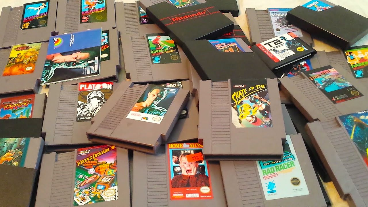 My Entire Classic Retro Game Collection (August 2015) NES ...