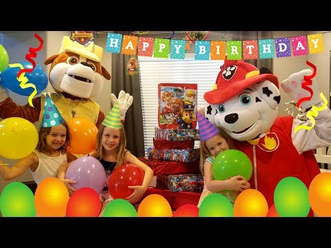Marshall's Birthday Party !!!   ~   HUGE Rubble Paw Patrol Pup Parody
