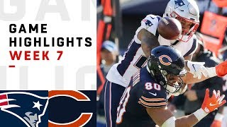 Patriots vs. Bears Week 7 Highlights | NFL 2018