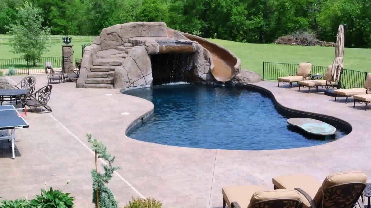 Concrete Pool Deck Ideas For Inground Pools Youtube