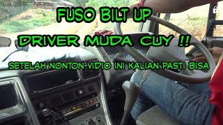 Driver muda nyobain truk fuso build up