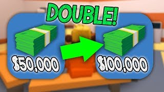 HOW TO DOUBLE ALL YOUR MONEY!! (Roblox Jailbreak)
