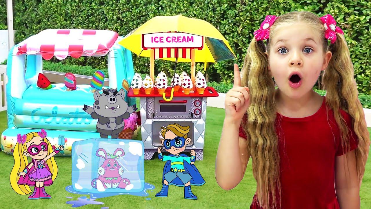 Диана и Рома Горячее Солнце vs Холодное мороженое, мультфильм