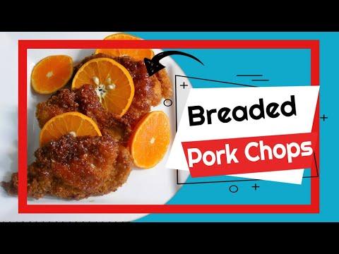 Breaded Pork Chops with Honey Orange Glaze Sauce