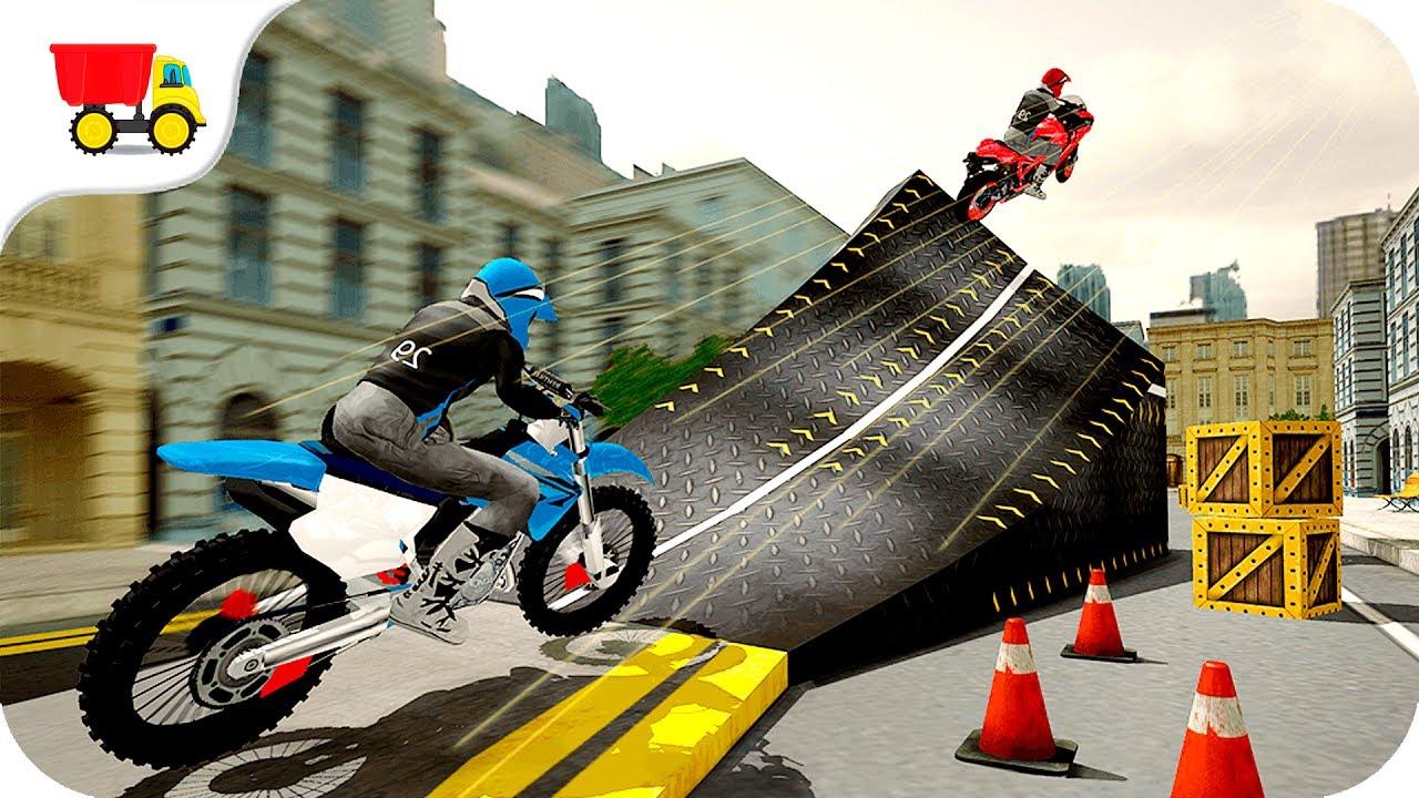 Bike Racing Games Rooftop Bike Rider Stunt Game