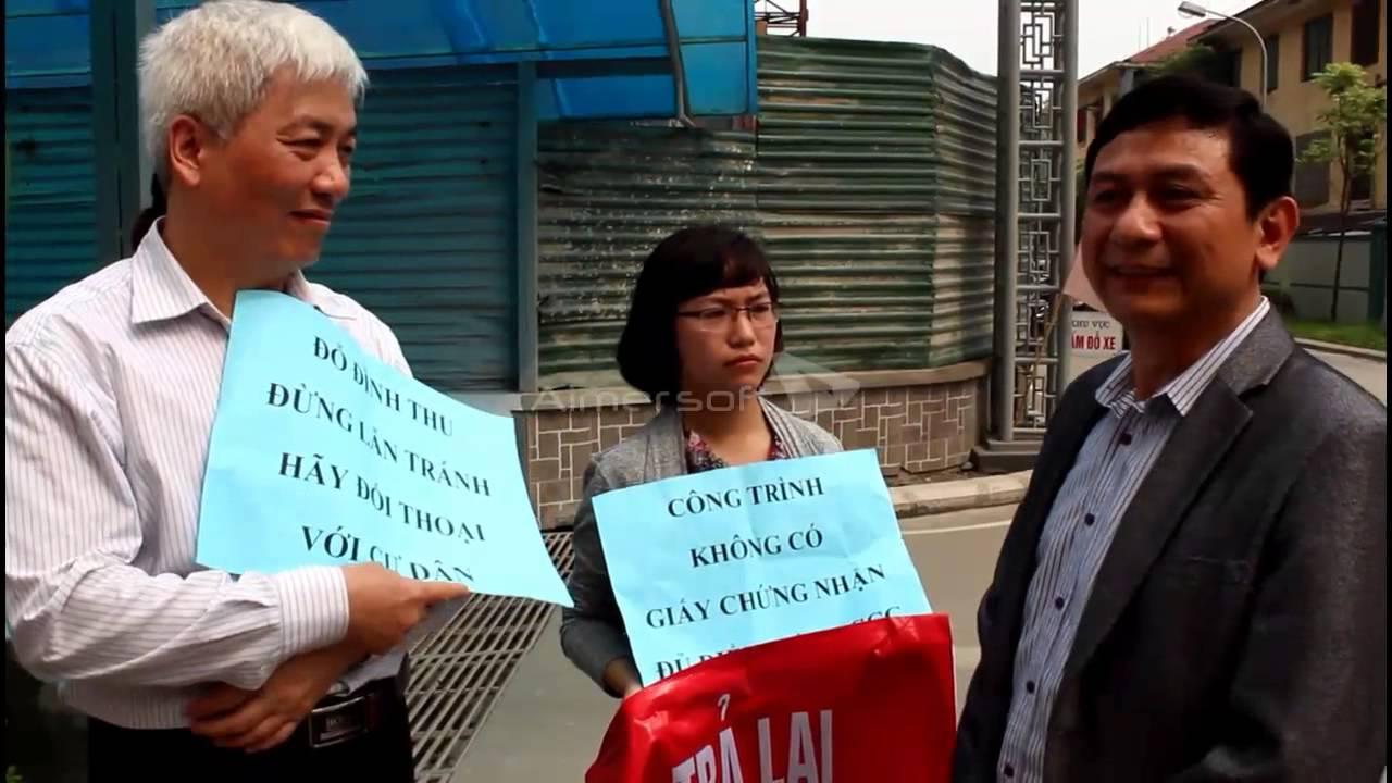 Cư dân chung cư 250 Minh Khai phản đối chủ đầu tư May Thăng Long