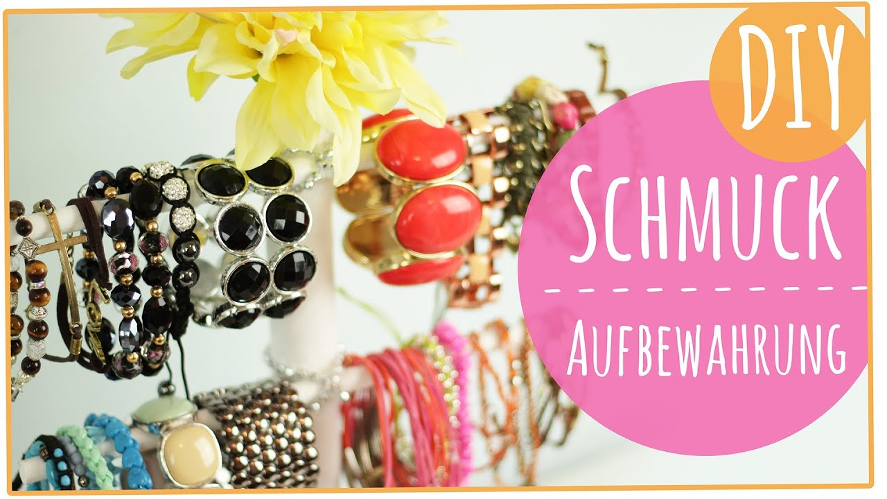 schmuck sammlung und aufbewahrung l diy youtube. Black Bedroom Furniture Sets. Home Design Ideas