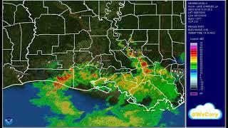 2016 Louisiana Flood Radar Video
