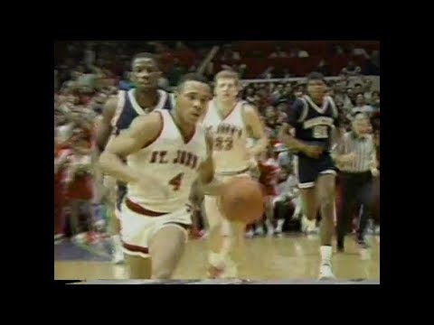 (partial rec.)  St. John's Redmen vs. Georgetown Hoyas - February 23, 1988
