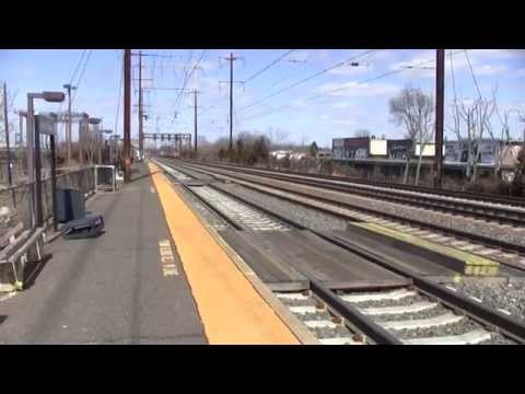 Jersey Avenue Railfanning on a Windy Day 4/5/14