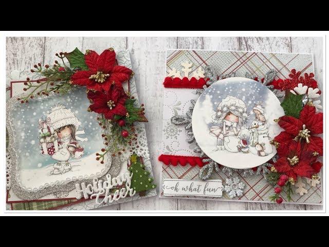 Winnie Christmas Cards | Polkadoodles | Rosa Gomez