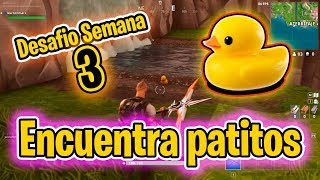 BUSCA PATITOS DE GOMA - Desafío de SEMANA 3 - Fortnite Guias y Tutoriales