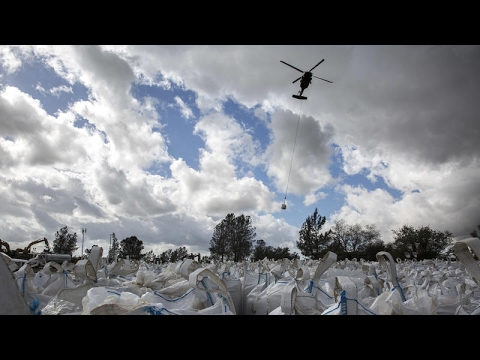 Time lapse   Construction continues on damaged Oroville Dam spillway