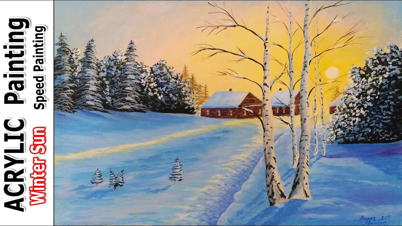 Kis Resmi Manzara Resmi Nasil Yapilir Cizilir How To Painting