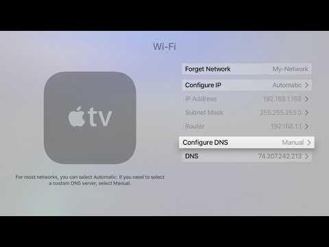 AppleTV (new Version) Unblocking Setup Instructions (DNS)