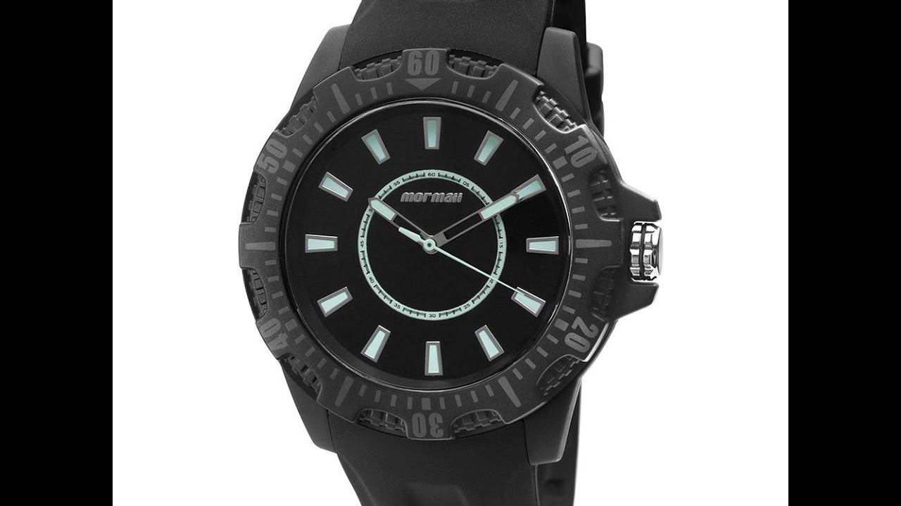 d3af02583304d Relógio Masculino Mormaii MOY121E5B 8A Analógico Preto - YouTube