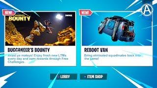NEW BUCCANEERS BOUNTY EVENT CHALLENGES & REBOOT VAN Gameplay! (Fortnite Battle Royale LIVE UPDATE)