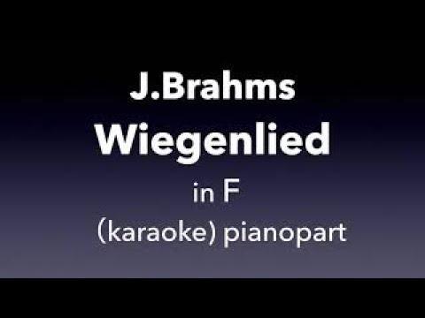 Wiegenlied    J.Brahms  in F   karaoke