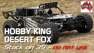 Hobby King Desert Fox Running on 3S Stock (DO NOT USE ON 3S)