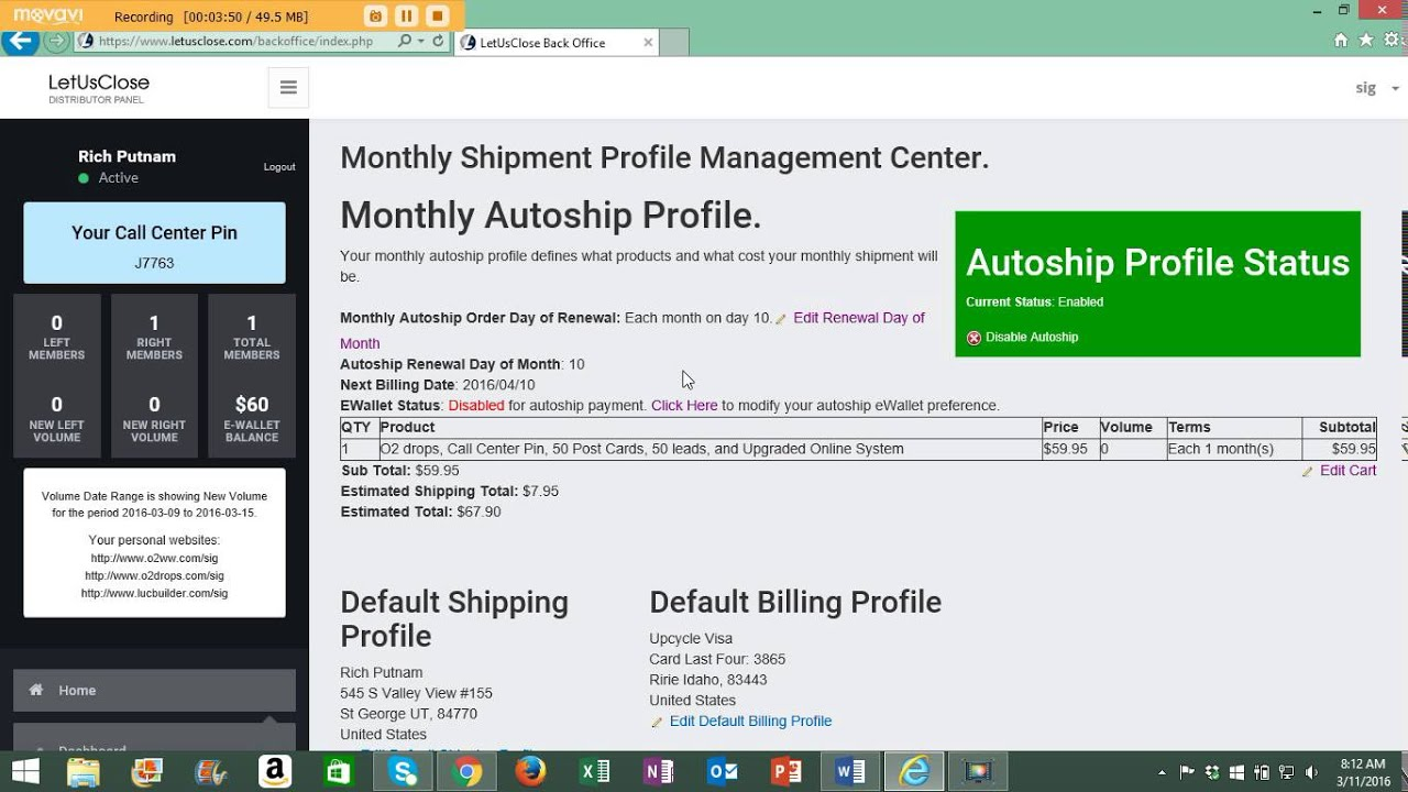 How to set up and manage your O2 Worldwide auto-ship feature - YouTube