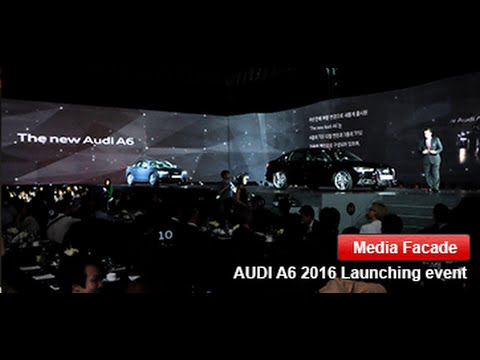 AUDI A6 2016 Launching event 3D Projection Mapping by Artechlab Korea