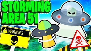 Lets Storm Area 51 In An UFO In Roblox Alien Simulator