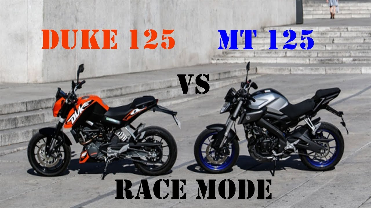 mt 125 giannelli vs duke 125 akrapovic race mode youtube. Black Bedroom Furniture Sets. Home Design Ideas