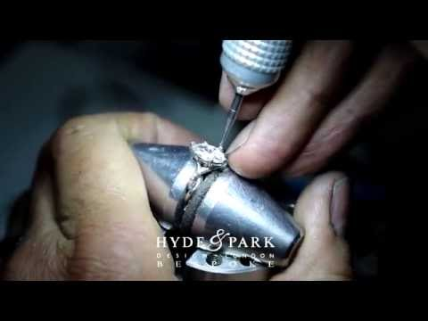 Jeweller Creating Bespoke Marquise Diamond Engagement Ring | London Hatton Garden
