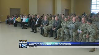 Governor sends off National Guard members headed overseas