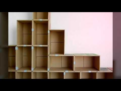 Recicla huacales cart n y carretes muebles youtube - Muebles en carton ...