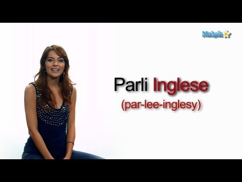 How To Ask Do You Speak English In Italian Youtube