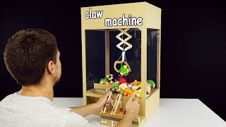 How to Make Hydraulic Powered Claw Machine from Cardboard