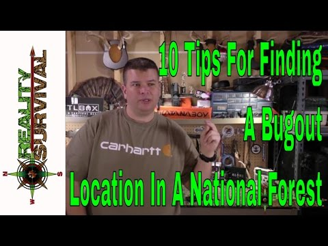 10 Tips for Finding a Bug Out Location In A National Forest