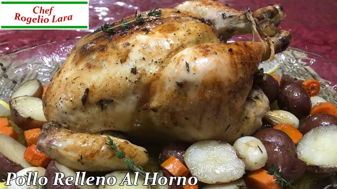 Pollo Relleno Al Horno Deliciosa Receta Youtube