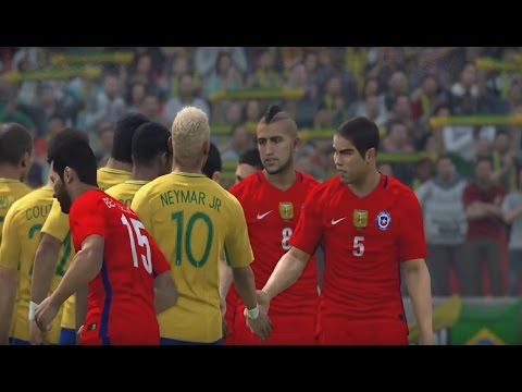 BRAZIL vs CHILE PES 2017 GAMEPLAY HD