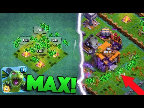 MAXING OUT THE OP BETA MINION SWARM IN CLASH OF CLANS! OUR FIRST LVL 12 TROOP!