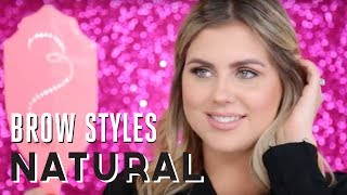 brow style tutorial how to create natural brows