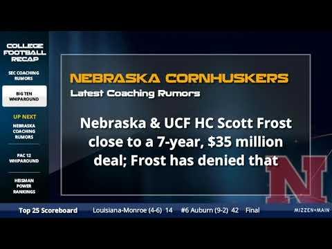 Nebraska Football Coaching Rumors - Latest on Scott Frost Contract Offer