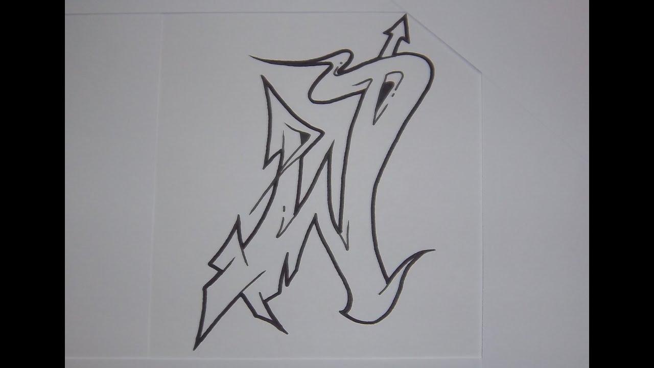 Alphabet Graffiti N 1 Semi Wildstyle Letters