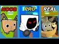 NOOB VS PRO VS REAL LIFE - ROBLOX PET SIMULATOR VERSION *FUNNY!*