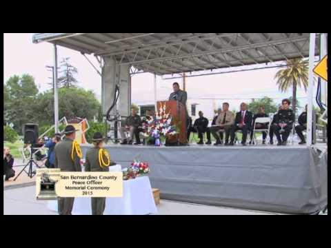 San Bernardino County Peace Officer Memorial Ceremony May 21, 2015