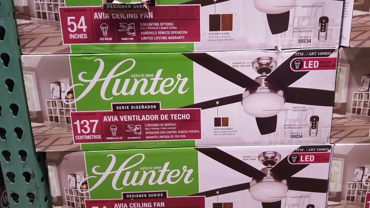 Costco Hunter Contempo 54 Led Ceiling Fan 129 99