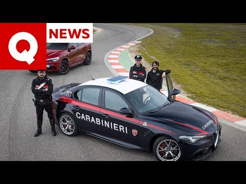 I segreti dell'Alfa Giulia Quadrifoglio dei Carabinieri (con inseguimento)   Quattroruote
