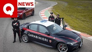 I Segreti Dell'alfa Giulia Quadrifoglio Dei Carabinieri  Con Inseguimento  | Quattroruote