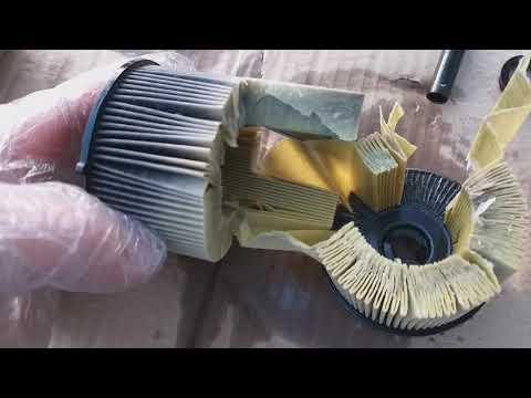 Вскрываем топливный фильр PURFLUX FCS477