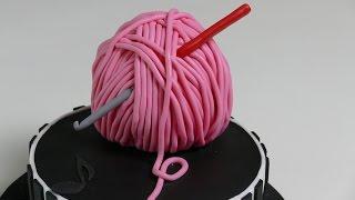 Wollknäuel-Torte   Fondanttorte   Geburtstagstorte von Nicoles Zuckerwerk